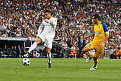 13th September 2017, Santiago Bernabeu, Madrid, Spain; UCL Champions League football, Real Madrid versus Apoel; Cristiano Ronaldo dos Santos (7) Real Madrid gets his shot away
