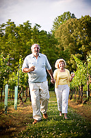 Mark Terry and Lillian Kroustalis at West Bend Vineyard and Winery, in the Yadkin Valley, NC.