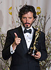 """BRET McKENZIE.winner of the Best Original Song at the 84th Academy Awards, Kodak Theatre, Hollywood, Los Angeles_26/02/2012.Mandatory Photo Credit: ©Dias/Newspix International..**ALL FEES PAYABLE TO: """"NEWSPIX INTERNATIONAL""""**..PHOTO CREDIT MANDATORY!!: NEWSPIX INTERNATIONAL(Failure to credit will incur a surcharge of 100% of reproduction fees)..IMMEDIATE CONFIRMATION OF USAGE REQUIRED:.Newspix International, 31 Chinnery Hill, Bishop's Stortford, ENGLAND CM23 3PS.Tel:+441279 324672  ; Fax: +441279656877.Mobile:  0777568 1153.e-mail: info@newspixinternational.co.uk"""