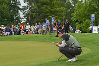 Sung Hyun Park (KOR) looks over her putt on the second playoff hole at 16 following round 4 of the 2018 KPMG Women's PGA Championship, Kemper Lakes Golf Club, at Kildeer, Illinois, USA. 7/1/2018.<br /> Picture: Golffile | Ken Murray<br /> <br /> All photo usage must carry mandatory copyright credit (&copy; Golffile | Ken Murray)