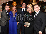 Daniel and Rosanna McEntee, Sean and Vivienne Dasey and John Sheridan at the Ardee Traders Dinner in Muldoons. Photo:Colin Bell/pressphotos.ie