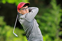 Danny Cronin (Co.Sligo) on the 1st tee during the Connacht U12, U14, U16, U18 Close Finals 2019 in Mountbellew Golf Club, Mountbellew, Co. Galway on Monday 12th August 2019.<br /> <br /> Picture:  Thos Caffrey / www.golffile.ie<br /> <br /> All photos usage must carry mandatory copyright credit (© Golffile | Thos Caffrey)