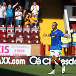 Madjid Bougherra walks of the field in a rage after being red carded for dissent by referee Dougie McDonald