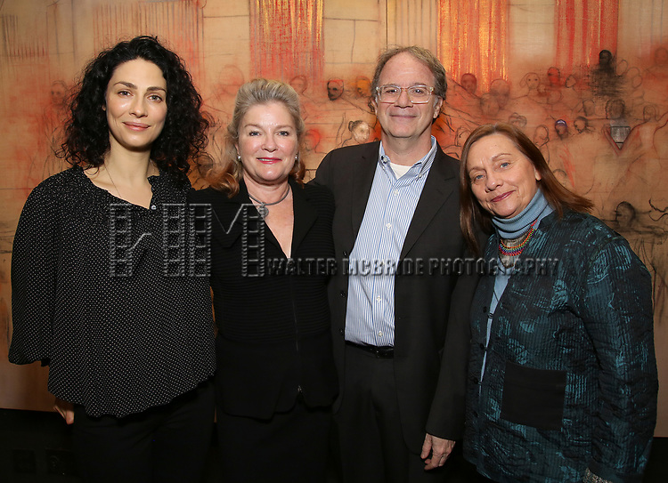 Joanne Kelly, Kate Mulgrew, Douglas Aibel and Dale Soules attends The Vineyard Theatre's Emerging Artists Luncheon at The National Arts Club on November 9, 2017 in New York City.