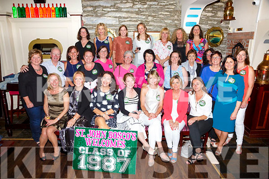 The class of 1989 from St John Bosco's Cahersiveen had a 30 year reunion in the Fertha Bar Cahersiveen on Saturday night pictured here front l-r; Irene O'Connor, Breda O'Donoghue, Brenda Sheehan, Michelle O'Mahony, Claire Fitzgerald, Deirdre O'Keeffe, Veronica Curran, middle l-r; Catherine Cournane, Junior Murphy(Teacher), Regina English, Karen Guiney, Barbra O'Neill, Marion O'Neill, Mary T.O'Connor, Veronica O'Sullivan, Mary O'Sullivan(Teacher),Mary B.O'Connor, Mernie Griffin, back l-r; Hannah Loghlane, Angela O'Connor, Mary Francis O'Connor, Fiona Kelly, Sandra Murphy, Ursula Gallagher & Susan Doyle.