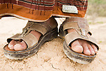 Sandals worn by Yemeni man, Hawf Protected Area, Yemen