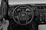 Steering wheel view of a 2013 Ford F150 XL Reg Cab