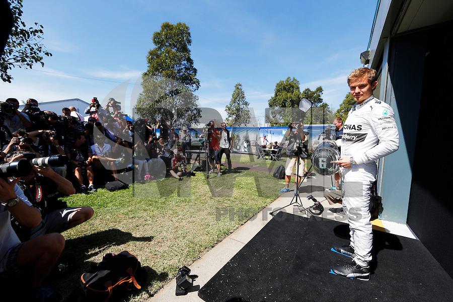 MELBORUNE, AUSTRALIA, 13.03.2014 - F1 - GP DA AUSTRALIA - PREPARATIVOS -  <br /> Nico Rosberg (GER, Mercedes AMG Petronas F1 Team) e visto dois dias antes do GP da Austrália de Fórmula 1, no circuito Albert Park, em Melbourne, Austrália, nesta quinta-feira, 13. (Foto: Pixathlon / Brazil Photo Press).