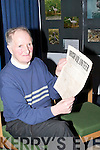 OLD & NEW: On Thursday last Liam Lynch, Knocknagoshel, presented Kerry County Library with old newspapers of the Irish Volunteers and his new book A Stranger to Darkness