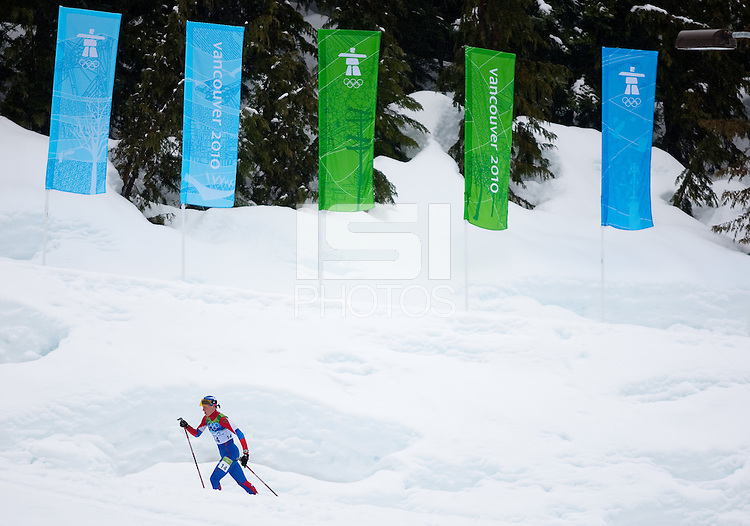 WHISTLER, BC, CANADA--Ladies 30km Mass Start Cross Country Skiing Classic, Whistler Olympic Park.