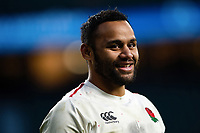 Billy Vunipola of England is all smiles after the match. Guinness Six Nations match between England and France on February 10, 2019 at Twickenham Stadium in London, England. Photo by: Patrick Khachfe / Onside Images