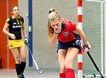 ARNHEM - Mond blessure Eva Bocharewicz van Laren, De dames van Laren tijdens de eerste dag van de zaalhockey competitie in de hoofdklasse, seizoen 2013/2014. COPYRIGHT  KOEN SUYK