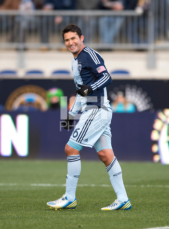 Claudio Bieler.  Sporting Kansas City defeated Philadelphia Union, 3-1. at PPL Park in Chester, PA.