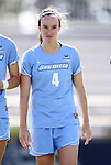 09 September 2012: San Diego's Emily Dillon. The University of North Carolina Tar Heels defeated the University of San Diego Toreros 5-0 at Koskinen Stadium in Durham, North Carolina in a 2012 NCAA Division I Women's Soccer game.