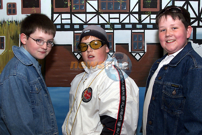Kevin Boyle, Rory Kirwin and Wayne Dunne who took part in the Drogheda Children's Variety show in the parochial hall..Picture: Arthur Carron/Newsfile