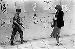 British soldiery on the streets of Derry northern Ireland 1979...