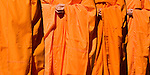 Orange robed Buddhist monks.