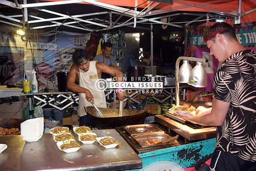Latitude Festival, Henham Park, Suffolk, UK July 2019. Pad Thai stall