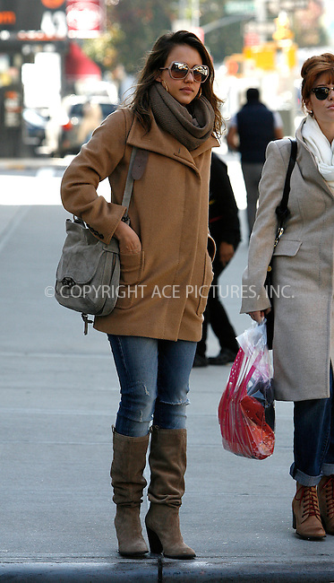 WWW.ACEPIXS.COM . . . . .  ....November 7 2011, New York City....Actress Jessica Alba walking around in Soho on November 7 2011 in New York City....Please byline: CURTIS MEANS - ACE PICTURES.... *** ***..Ace Pictures, Inc:  ..Philip Vaughan (212) 243-8787 or (646) 679 0430..e-mail: info@acepixs.com..web: http://www.acepixs.com
