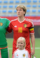 20150523 - SINT-TRUIDEN ,  BELGIUM : Belgian Aline Zeler pictured during the friendly soccer game between the Belgian Red Flames and Norway, a preparation game for Norway for the Women's 2015 World Cup, Saturday 23 May 2015 at Staaien in Sint-Truiden , Belgium. PHOTO DAVID CATRY