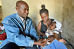 Mactivity Chima immunizes a child in Kalikumbi, Malawi, where the Maternal, Newborn and Child Health program of the Livingstonia Synod of the Church of Central Africa Presbyterian has helped families stay healthy.