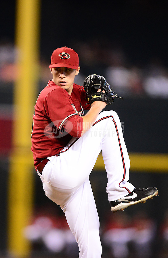 Aug. 29, 2012; Phoenix, AZ, USA: Arizona Diamondbacks pitcher Patrick Corbin against the Cincinnati Reds at Chase Field. Mandatory Credit: Mark J. Rebilas-USA TODAY Sports