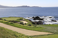 The par3 7th hole during Sunday's Final Round of the 2018 AT&amp;T Pebble Beach Pro-Am, held on Pebble Beach Golf Course, Monterey,  California, USA. 11th February 2018.<br /> Picture: Eoin Clarke | Golffile<br /> <br /> <br /> All photos usage must carry mandatory copyright credit (&copy; Golffile | Eoin Clarke)