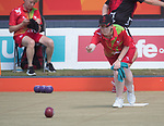Wales Laura Daniels in action during the Woman's singles semi-finals <br /> <br /> *This image must be credited to Ian Cook Sportingwales and can only be used in conjunction with this event only*<br /> <br /> 21st Commonwealth Games - Bowls -  Day 4 - 08\04\2018 - Boardbeach Bowls Club - Gold Coast City - Australia