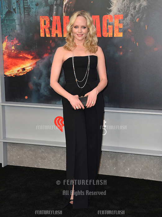 Marley Shelton at the premiere for &quot;Rampage&quot; at the Microsoft Theatre, Los Angeles, USA 04 April 2018<br /> Picture: Paul Smith/Featureflash/SilverHub 0208 004 5359 sales@silverhubmedia.com