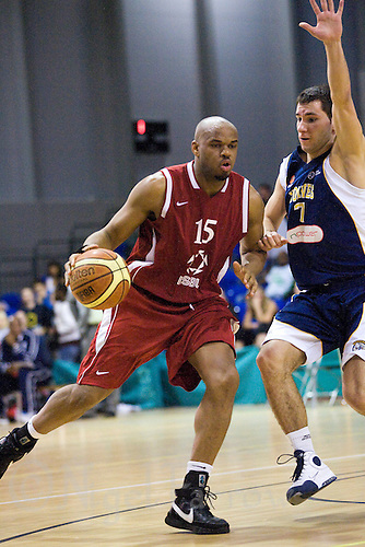 15 MAR 2009 - SHEFFIELD,GBR - Julius Joseph - Worcester University Wolves (blue and white) v London Southbank University (red)  - Mens Championships Final - BUCS Championships '09. .(PHOTO (C) NIGEL FARROW)