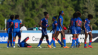 Bradenton, FL - Sunday, June 10, 2018: Haiti prior to a U-17 Women's Championship match between the United States and Haiti at IMG Academy.  USA defeated Haiti 3-2 to advance to the finals.