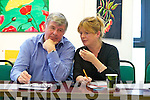 Sean Counihan and Gillian Wharton Slattery Kerry County Councilors held their  last meeting  before the election at the Kerry Library on Monday