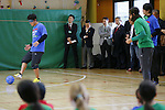 (L-R) Atsuhiro Miura, Tsuyoshi Kitazawa, MARCH 5, 2015 : Tokyo 2020 Organising Committee holds a promotion event for the Tokyo 2020 Paralympic games at Tokyo International School in Tokyo, Japan. This event took place 2000 days before the Tokyo 2020 Paralympic games. (Photo by Yusuke Nakanishi/AFLO SPORT)