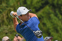 Rory McIlroy (NIR) watches his tee shot on 4 during 4th round of the World Golf Championships - Bridgestone Invitational, at the Firestone Country Club, Akron, Ohio. 8/5/2018.<br /> Picture: Golffile | Ken Murray<br /> <br /> <br /> All photo usage must carry mandatory copyright credit (© Golffile | Ken Murray)