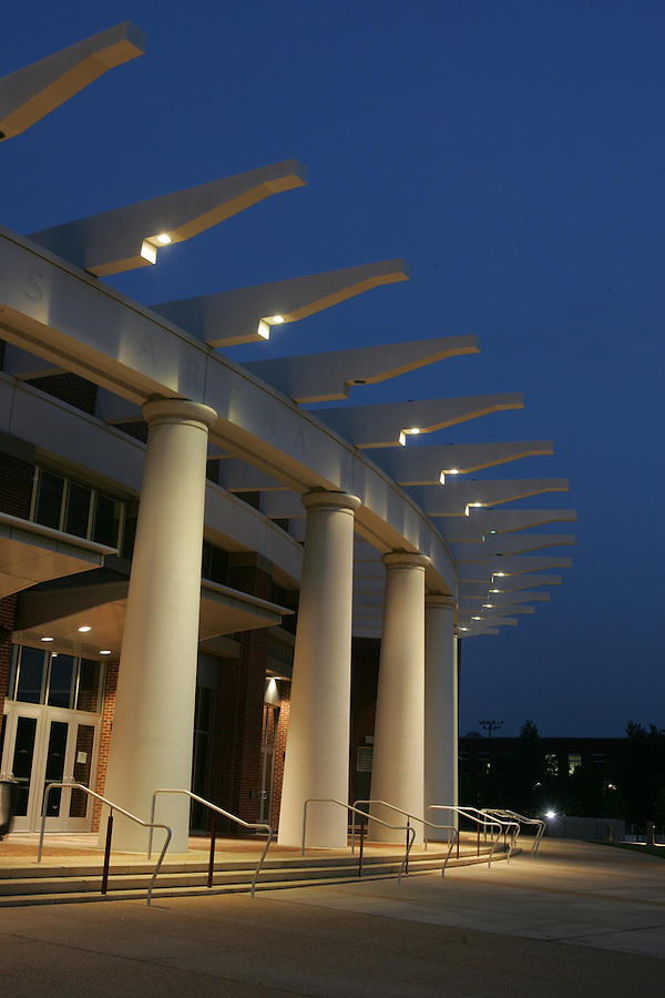 The John Paul Jones Arena (JPJ) located in Charlottesville, Va. Credit Image: © Andrew Shurtleff