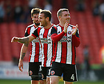 John Fleck of Sheffield Utd  applauds the fans during the Championship match at Bramall Lane, Sheffield. Picture date 26th August 2017. Picture credit should read: Simon Bellis/Sportimage