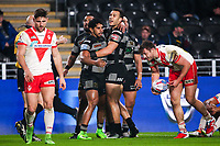 Picture by Alex Whitehead/SWpix.com - 10/03/2017 - Rugby League - Betfred Super League - Hull FC v St Helens - KCOM Stadium, Hull, England - Hull FC's Albert Kelly celebrates his try.