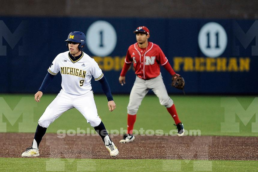 Michigan baseball loses to Nebraska, 6-4, Friday night, April 25, 2014, at Ray Fisher Stadium in the Wilpon Baseball/Softball Complex.