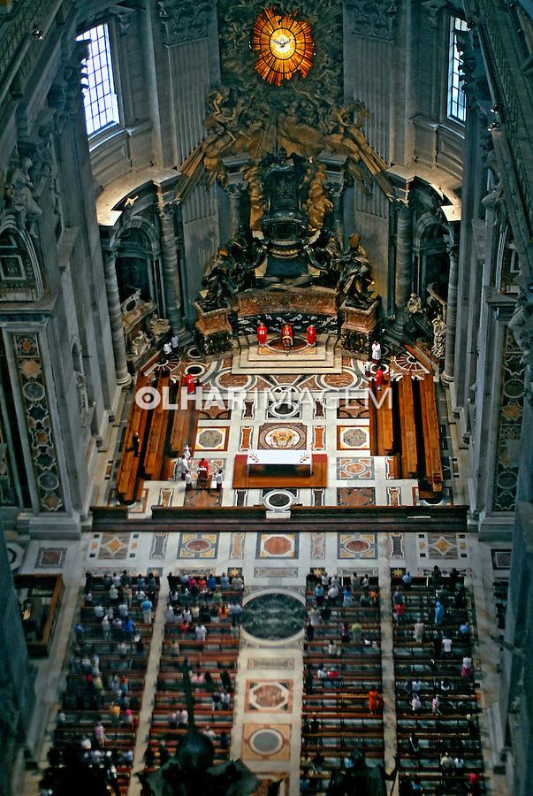 Basílica de São Pedro no  Vaticano. Roma. Itália. 2006. Foto de Luciana Whitaker.