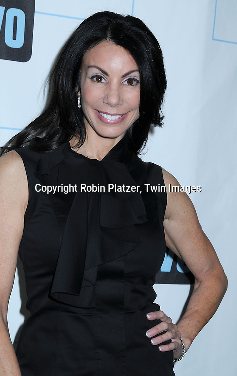 Danielle Staub of The Real Housewives of New Jersey posing for photographers at The Bravo Upfront Party on March 10, 2010 at Skylight Studios in New York City.