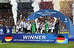 Germany's players celebrate with the trophy during the UEFA Under 21 Final at the Stadion Cracovia in Krakow. Picture date 30th June 2017. Picture credit should read: David Klein/Sportimage
