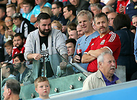 Swansea supporters during the Swansea City Legends v Manchester United Legends at the Liberty Stadium, Swansea, Wales, UK