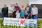 winner of  the Over forty's longest Puck was Brendan O'Sullivan, who was presented with the Trophy by former champion Kerry Mayor John Brassil. Pictured Mikey Leahy, John Brassill  Liam O'Mahony, Brendan O'Sullivan, Kieran O'Mahony,Edward Power,Eamon O'Sullivan, with Will and John O'Sullivan, Harry Neville and Ollie Power