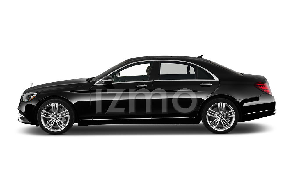 Car Driver side profile view of a 2019 Mercedes Benz S-Class - 4 Door Sedan Side View