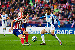 Felipe Augusto de Almeida of Atletico de Madrid and Facundo Ferreyra of RCD Espanyol during La Liga match between Atletico de Madrid and RCD Espanyol at Wanda Metropolitano Stadium in Madrid, Spain. November 10, 2019. (ALTERPHOTOS/A. Perez Meca)