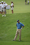 6 September 2008:   Jim Furyk ponders his shot out of the rough in the third round of play at the BMW Golf Championship at Bellerive Country Club in Town & Country, Missouri, a suburb of St. Louis, Missouri. Furyk was the leader after the conclusion of round two with a score of 62.  After the first nine holes of the 18-hole third round, Furyk was 11 under-par.  The BMW Championship is the third event of the Fed Ex Cup and the top 30 finishers will qualify for the next event of the championship.