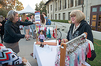 Handmade Oxy in the JSC Quad on Dec. 4, 2015.<br /> (Photo by Marc Campos, Occidental College Photographer)