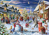 Marcello, CHRISTMAS LANDSCAPES, WEIHNACHTEN WINTERLANDSCHAFTEN, NAVIDAD PAISAJES DE INVIERNO, paintings+++++,ITMCXM1647,#XL# ,puzzle ,marketplace