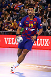 VELUX EHF 2019/20 EHF Men's Champions League Group Phase - Round 8.<br /> FC Barcelona vs Aalborg Handbold: 44-35.<br /> Timothey N'Guessan.