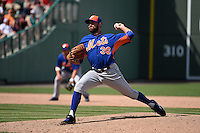 New York Mets pitcher Sean Gilmartin (36) during a Spring Training game against the Boston Red Sox on March 16, 2015 at JetBlue Park at Fenway South in Fort Myers, Florida.  Boston defeated New York 4-3.  (Mike Janes/Four Seam Images)